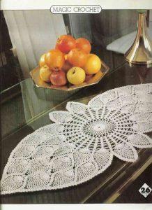 Camino de mesa crochet esquema