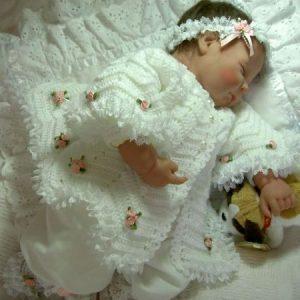 Chaqueta ganchillo bebe bautizo