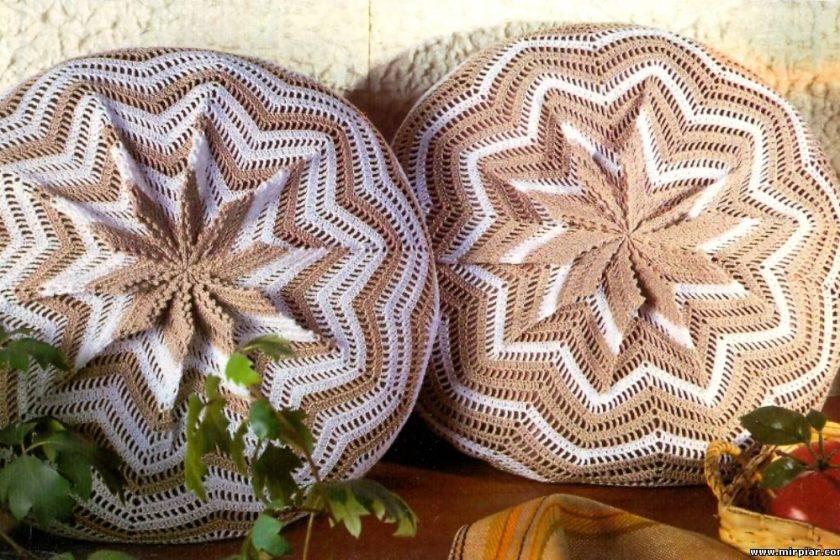 Cojin crochet con esquema