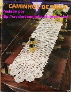 Patrón camino de mesa crochet