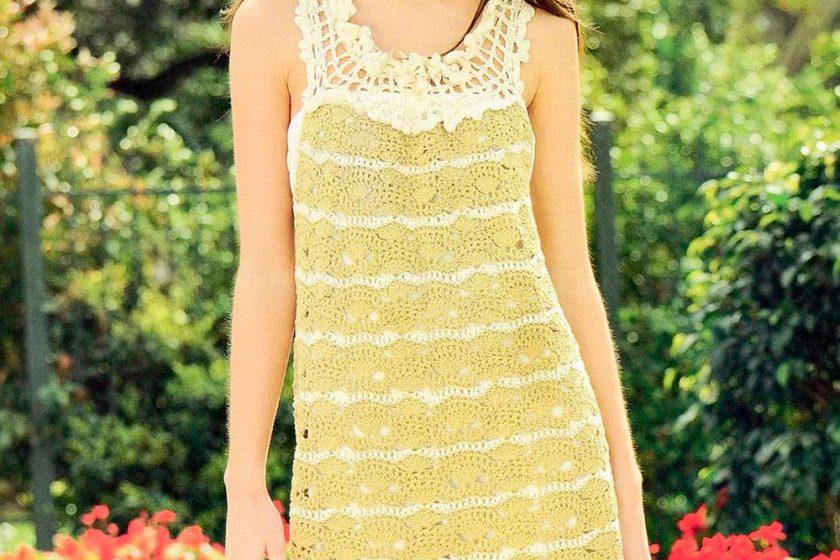 Vestido crochet estilo romántico