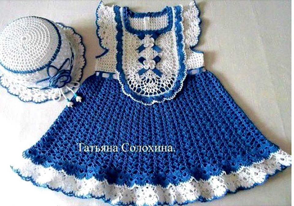 Vestido Crochet Niña Red Social Tejidos