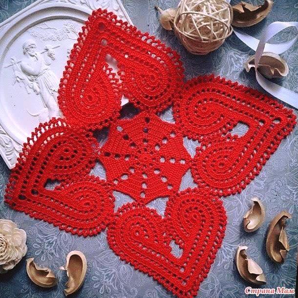Hermosa servilleta a crochet con esquemas