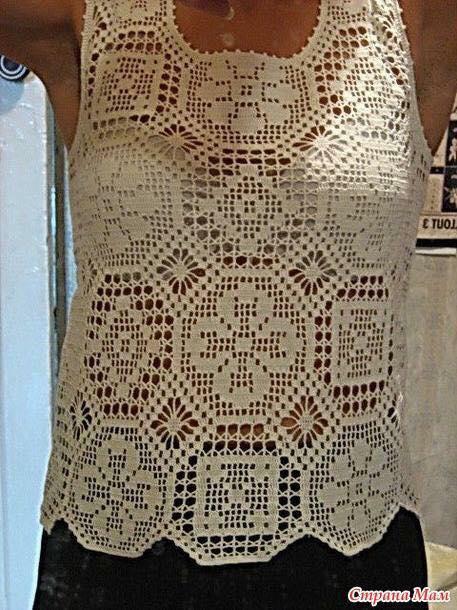 Linda blusa en crochet con patrones