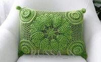 Cojín crochet piña relieve