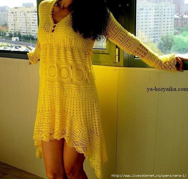 Blusón crochet mangas
