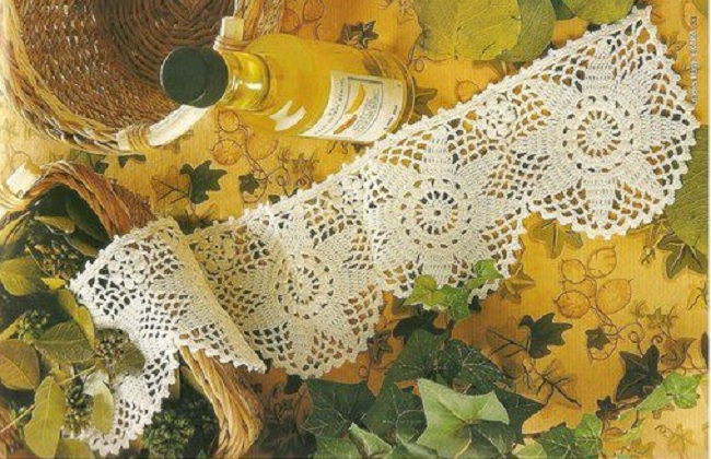 Orilla ganchillo flor