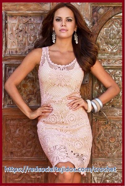 Vestido crochet elegante