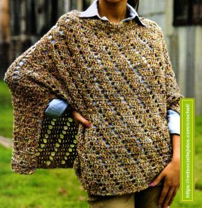 Poncho Otoñal Crochet
