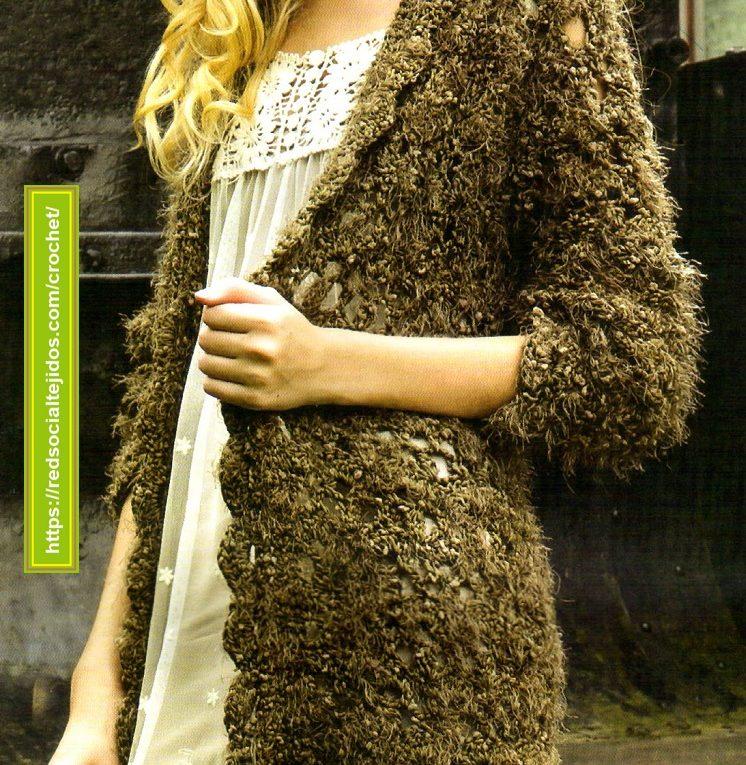Saco femenino tejido