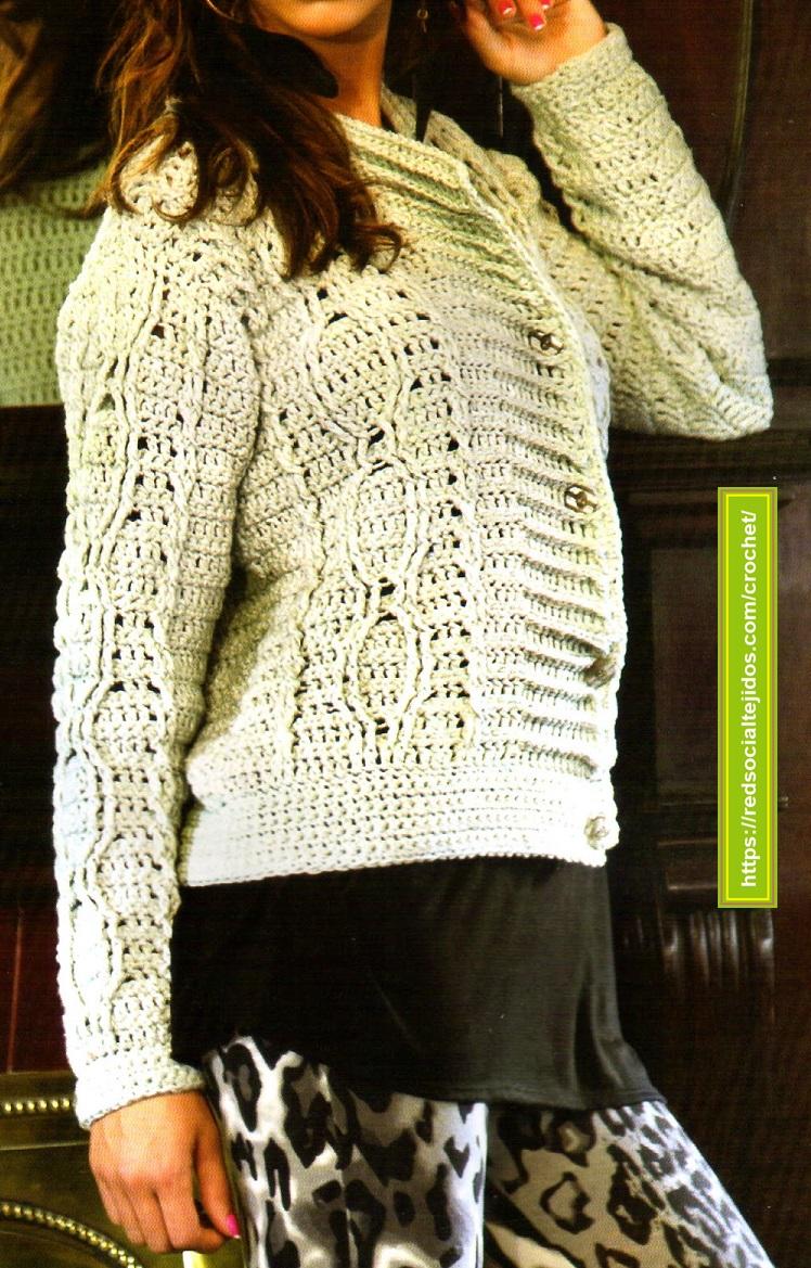Saquito básico tejido en crochet